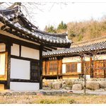old korean academy building next to main building