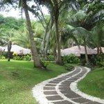 Promenade dans le resort