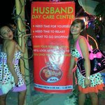 Husband day care center at Red Coco Bar...
