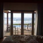 view from ocean villa bedroom