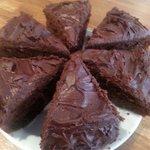 Scrumptious homemade chocolate fudge cake
