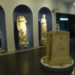 The marble sculptures inside