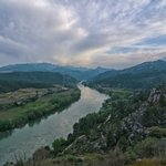 View of the River Ebro from Miravet Castle