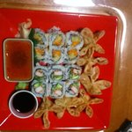 Sushi Taro take out from April 11, 2014. Great sushi and the best Fried Won Tons on earth!