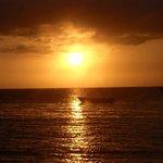 Beautiful sunset of malapascua