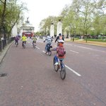 Cycling up The Mall