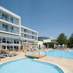 Hotel exterior, pool area