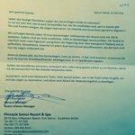 Das Schreiben haben wir vom Manager erhalten :-(