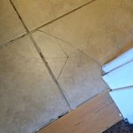 Cracked bathroom tiles