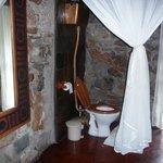 Offenes WC im Steinanbau