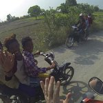 4 Kids, 1 Motorbike, No Helmets, Huge Smiles! (Only in SE Asia)
