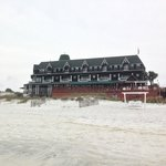 View of the rooms from the beach
