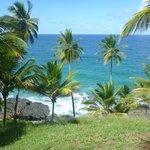 Vista desde o morro, entre 3ª e 4ª praia
