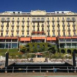 Front of Grand Hotel Tremezzo from the floating pool