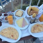 Our Breakfast on Our Balcony