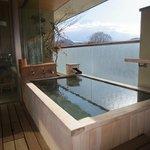 富士山が見える部屋の露天風呂