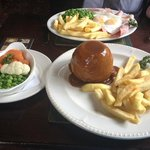 Lamb Pudding/Ham Egg and Chips - Burley Inn