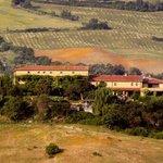 Sicht auf Landgut Le Valli aus dem Süden