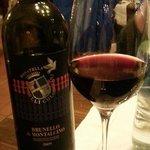 Il vino della cena...ottimo!!