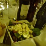 Greek salad accompaniment to the Mezze.