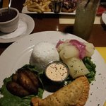 My yummy vegetarian meal at Havana Rumba