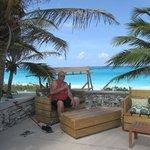 Wes enjoying a Bahama Mama
