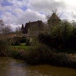 Historic chateau opposite Le Moulin restaurant, near Chateau de Lavaud