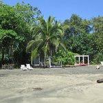 Camas de playa del hotel.