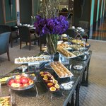 One of seveal tables in Sunday Brunch buffet