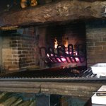 preparado el fuego para un buen chuleton de buey