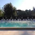 La piscina all alba