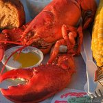 Fresh Lobster with butter & corn