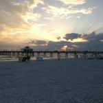 Spiaggia e tramonto
