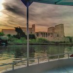 The Boat trip back from Philae Temple (quick cell photo)