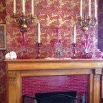 The fireplace in the Dining Room