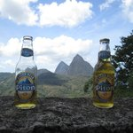 Pitons between the Pitons