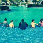 The amazing Sony with the kids at the pool