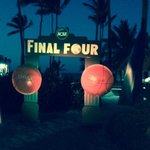 Final Four viewing party on the beach complete with cotton candy, popcorn, snacks and full svc b
