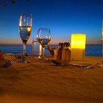 Cena romantica sulla spiaggia