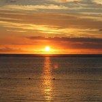 Coucher de soleil sur l'Océan Indien.