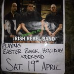 The Druids, Irelands Premier Rebel Band,playing in the Druids Chair,it all adds up