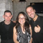 Wife Jo with Alessandro and Emanuele
