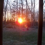 Sunset from our screened deck