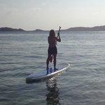 Paddleboarding in Secret Harbor