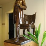 Rhe original of this bronze of Abraham Lincoln was unveiled in 1887 in Chicago
