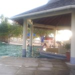 outside bar by pool