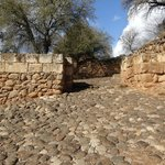 Israelite Gate with original paving stones