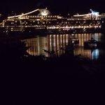 Cruise ship at night