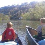 Canoeing down the Wye