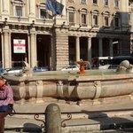 Fountain at Piazza Colonna...beside Column.